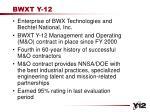 bwxt y 12