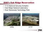 doe s oak ridge reservation