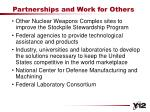 partnerships and work for others