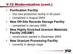 y 12 modernization cont