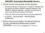 oscars guaranteed bandwidth service