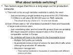 what about lambda switching