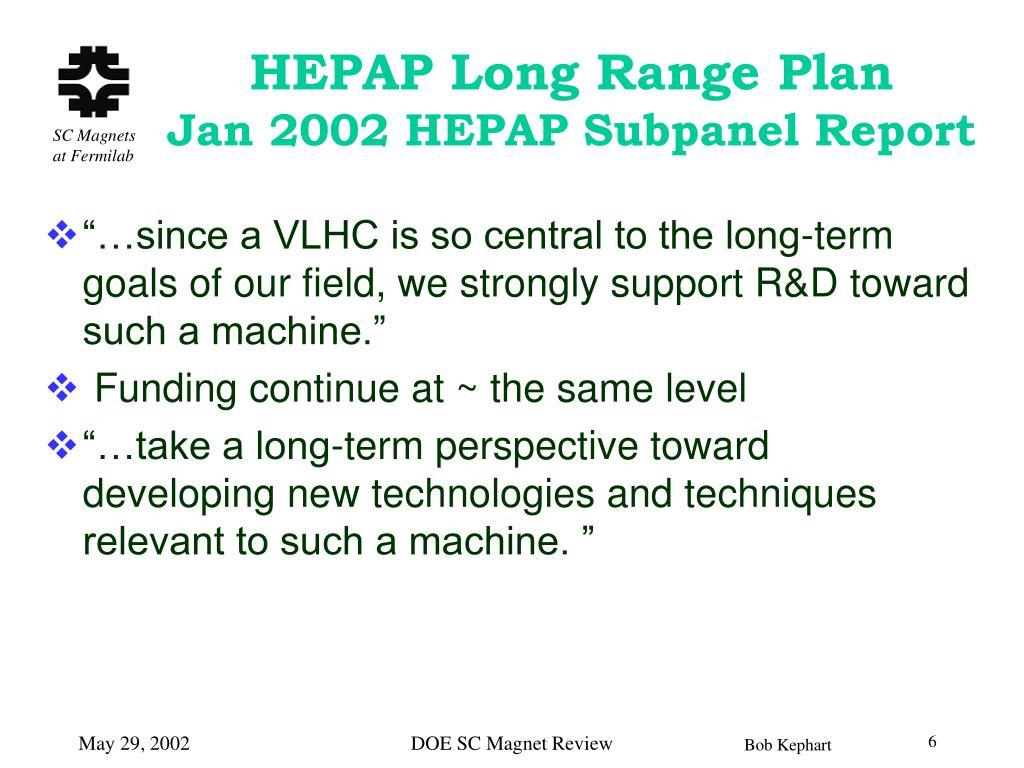 HEPAP Long Range Plan