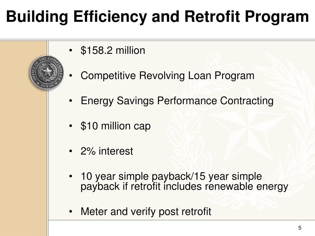 Building Efficiency and Retrofit Program