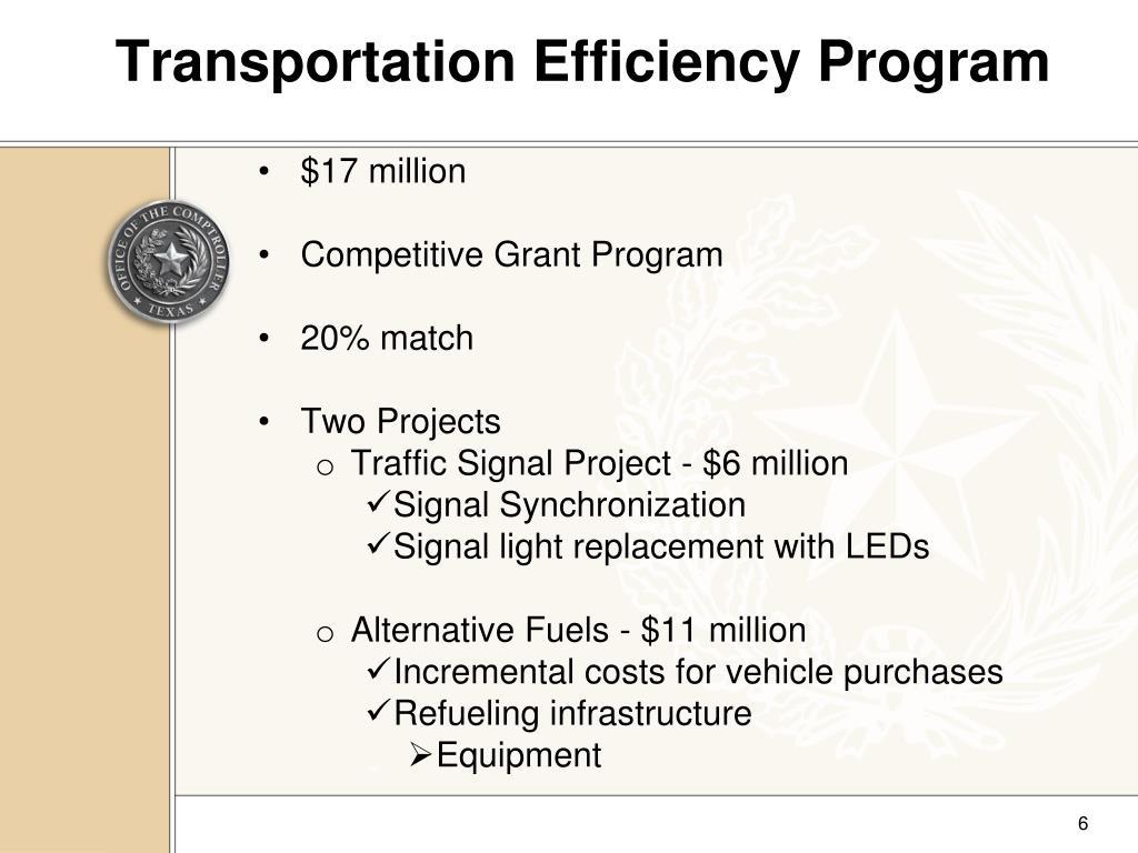 Transportation Efficiency Program