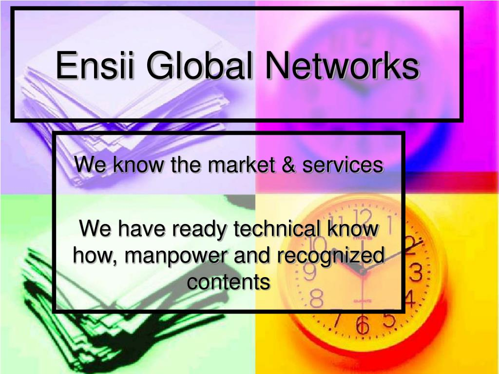 ensii global networks l.