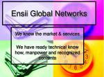 ensii global networks