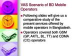 vas scenario of bd mobile operators
