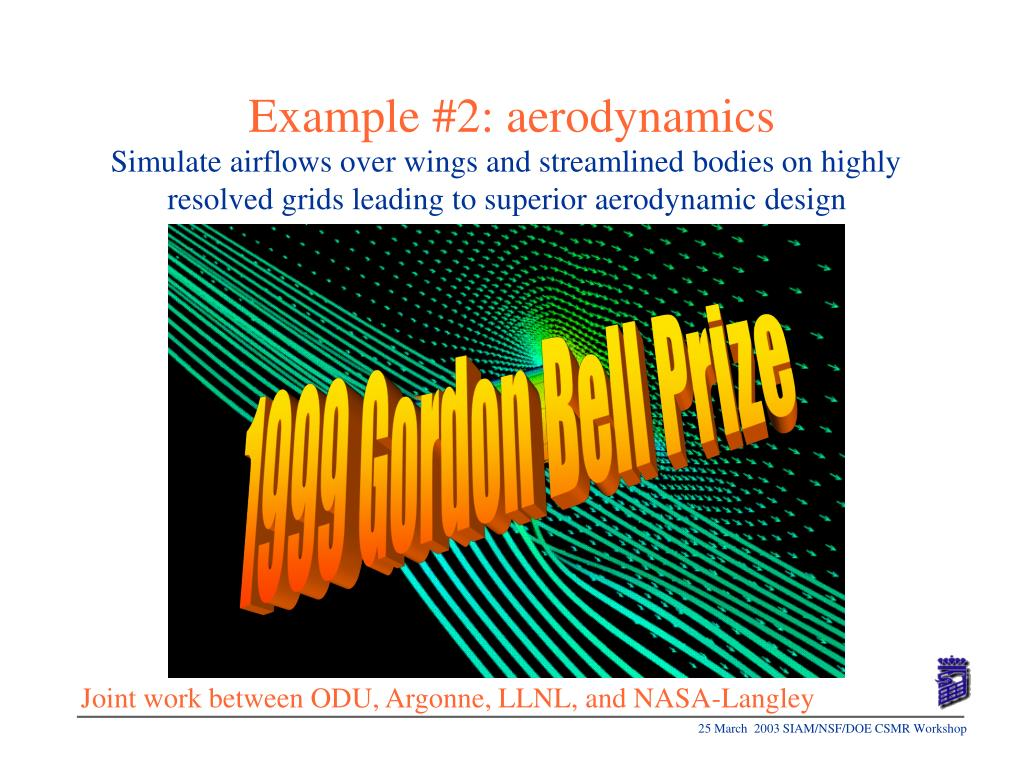 Example #2: aerodynamics