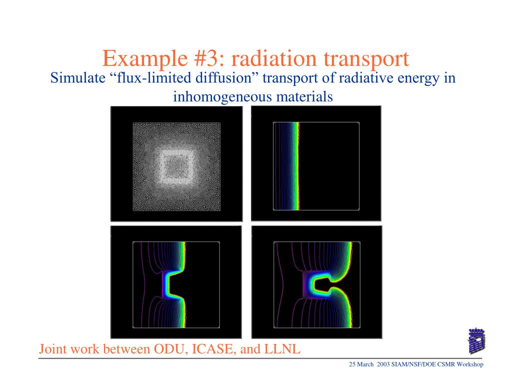 Example #3: radiation transport