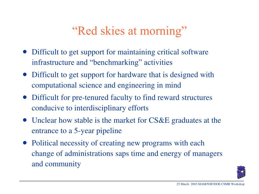 """""""Red skies at morning"""""""