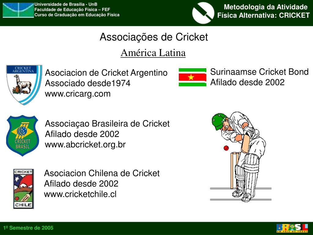 Associações de Cricket