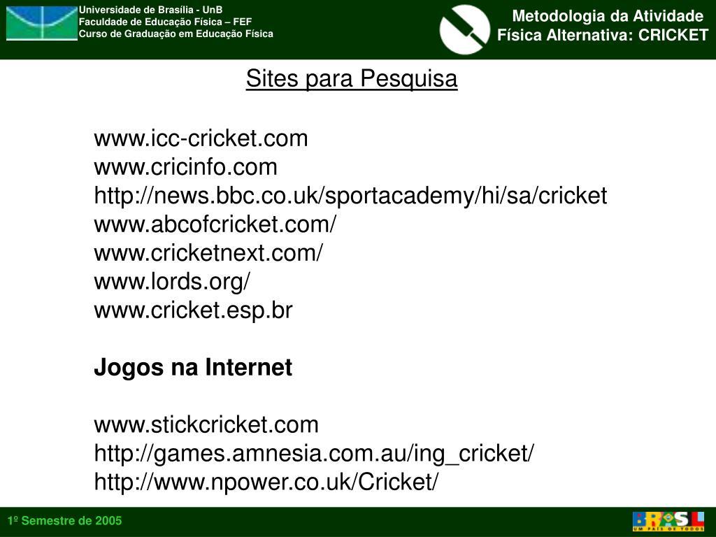 Sites para Pesquisa