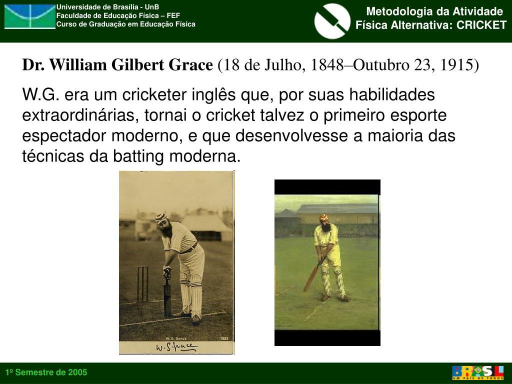 Dr. William Gilbert Grace