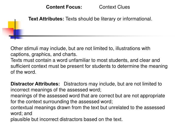 Content Focus: