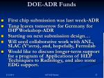 doe adr funds
