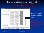 generating the signal