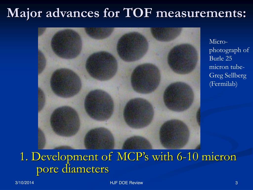 Micro-photograph of Burle 25 micron tube- Greg Sellberg (Fermilab)