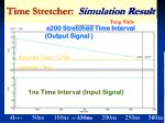 time stretcher simulation result