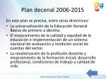 plan decenal 2006 2015
