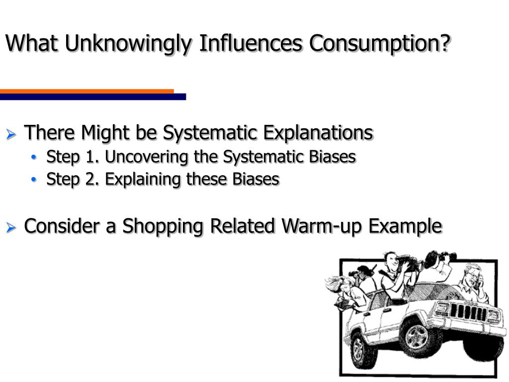 What Unknowingly Influences Consumption?