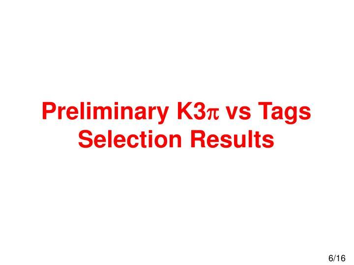 Preliminary K3