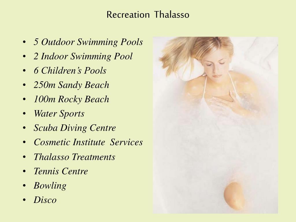Recreation  Thalasso
