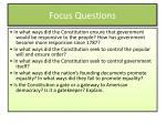 focus questions