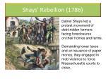 shays rebellion 1786