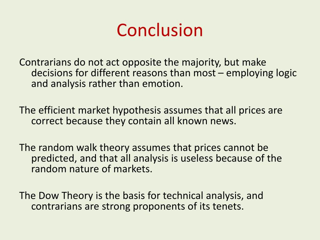 PPT - Contrarian investing and why it works PowerPoint