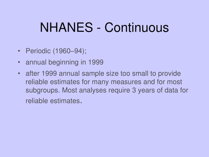 NHANES - Continuous