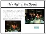 my night at the opera
