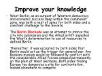 improve your knowledge11