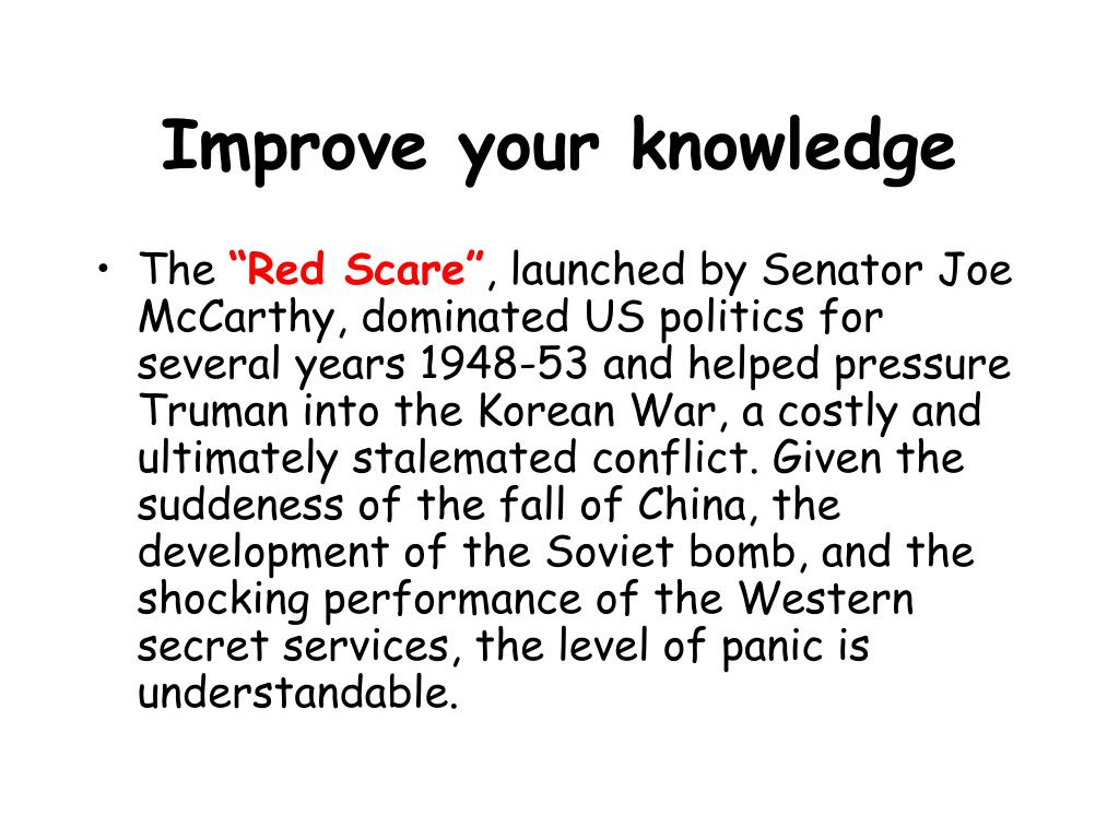 Improve your knowledge