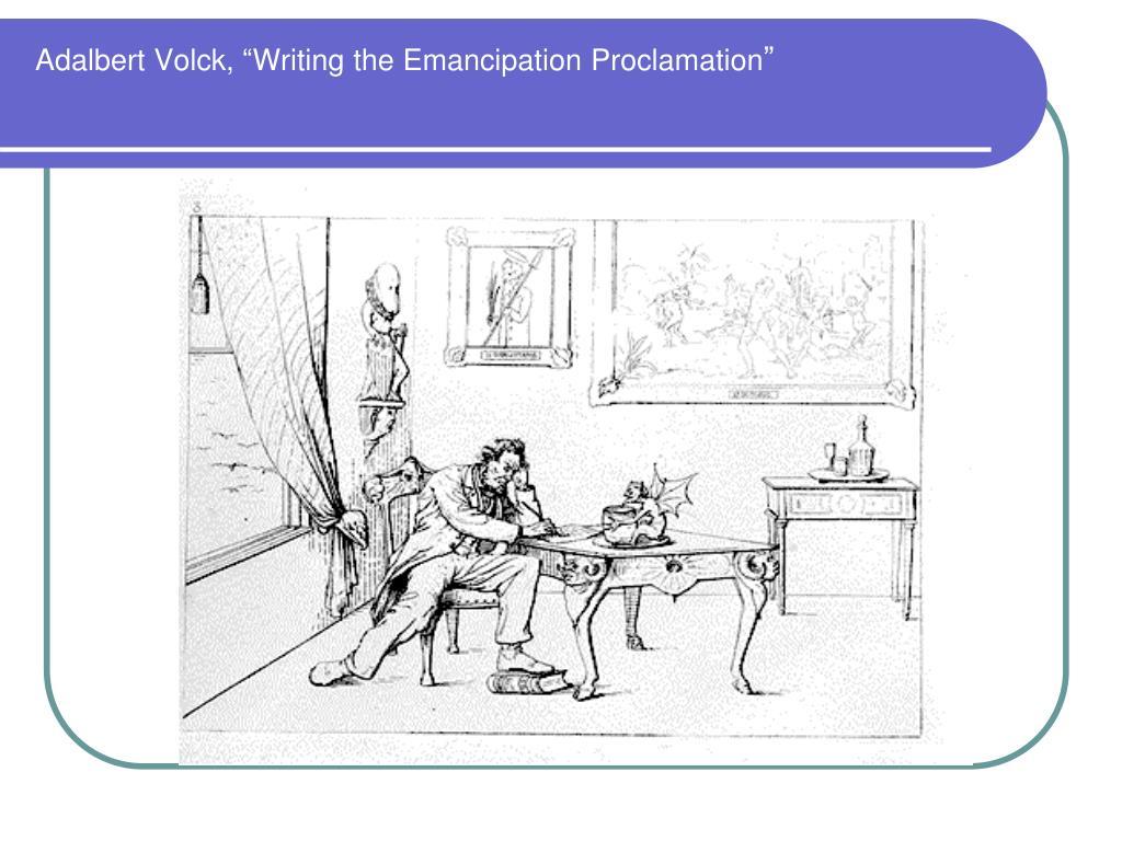 "Adalbert Volck, ""Writing the Emancipation Proclamation"