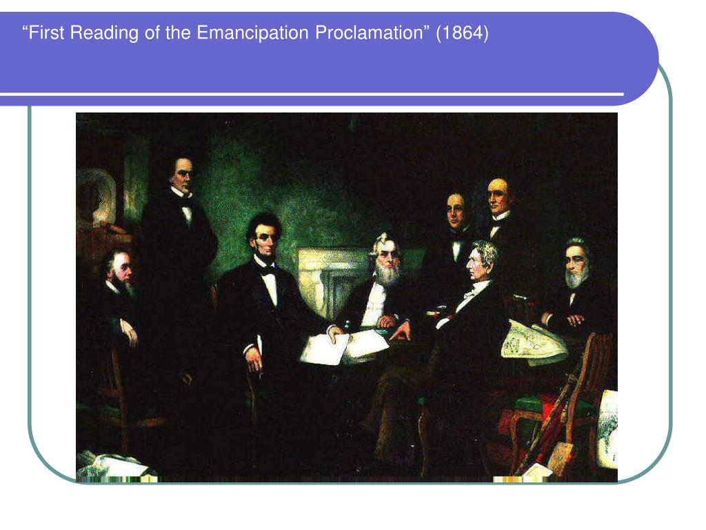 """""""First Reading of the Emancipation Proclamation"""" (1864)"""