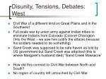 disunity tensions debates west