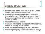 legacy of civil war