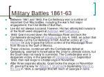 military battles 1861 63