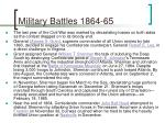 military battles 1864 65