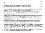 military history 1864 65