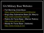 ga military base websites