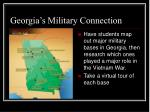 georgia s military connection