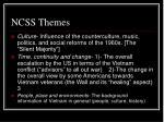 ncss themes