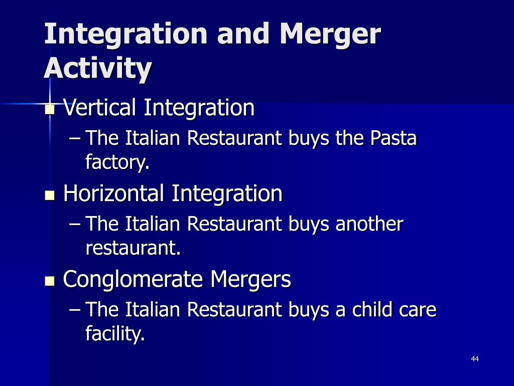 Integration and Merger Activity