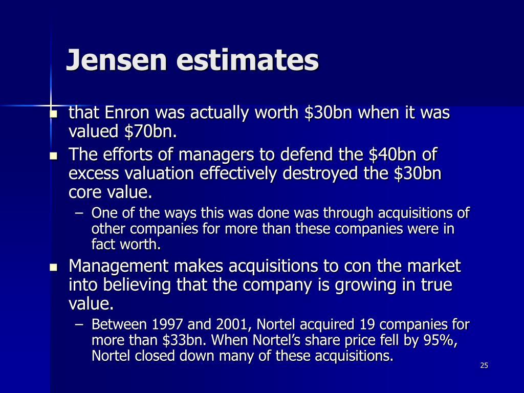 Jensen estimates
