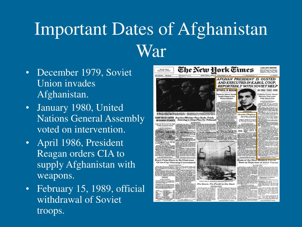 Important Dates of Afghanistan War