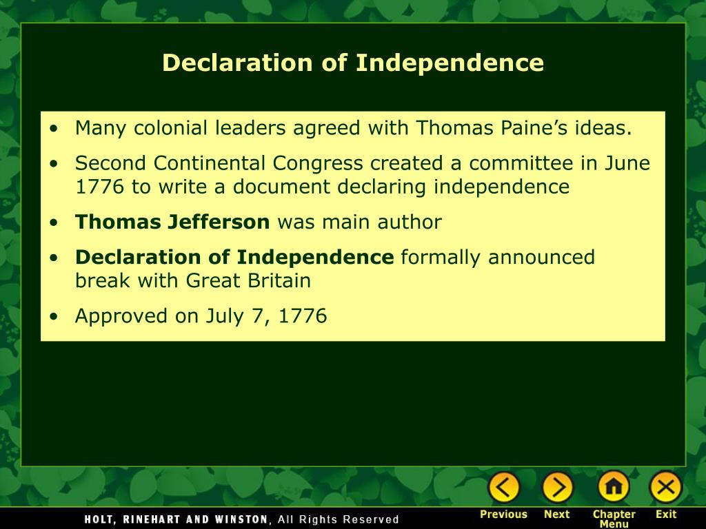 Many colonial leaders agreed with Thomas Paine's ideas.
