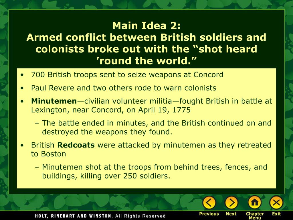 700 British troops sent to seize weapons at Concord