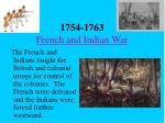 1754 1763 french and indian war